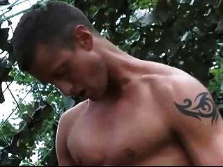 सींग का बना सैनिकों के लिए गुदा सेक्स आउटडोर