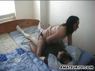 शौकिया प्रेमिका blowjob, घर पर हाथ और बकवास