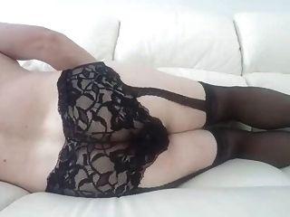 बट प्लग और cumshot के साथ सेक्सी मोज़ा