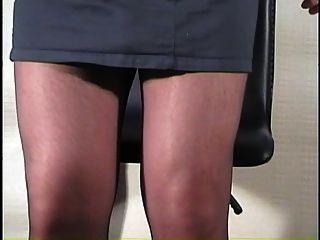 कुर्सी पर pantyhose सह