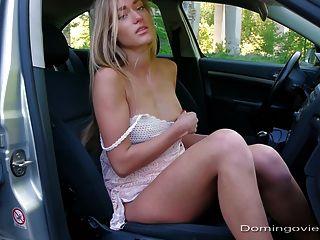 राजमार्ग फूहड़ कार में हस्तमैथुन