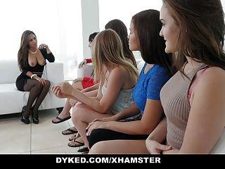 dyked किशोर लड़कियों busty milf मालकिन द्वारा निकला