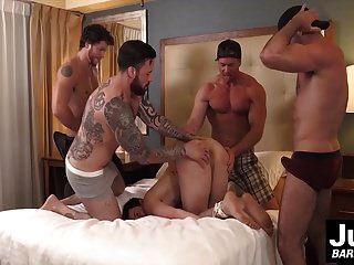 गर्म मांसपेशियों दोस्तों के समूह कड़ी मुश्किल लोगों गधे बांध दिया