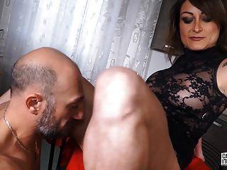 castingallaitaliana कास्टिंग में गुदा के दौरान squirting बेब