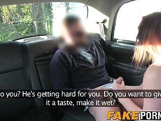 मोटा च्लोए चूसने और कमबख्त टैक्सी चालकों मुर्गा आनंद मिलता है