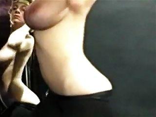 शारीरिक विंटेज बड़े स्तन नृत्य कसरत व्यायाम leotard