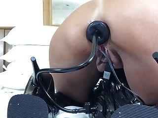 inflatable गुदा प्लग + लाटेकस में toying + जांघों 2