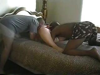 अंतरजातीय सेक्स काले सांड fucks गर्म सफेद milf