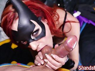 batgirl shada फीट batcave में गुदा creampie हो जाता है!
