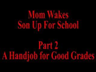 माँ स्कूल भाग 2 के लिए बेटा उठता है