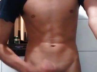 मीठे सेक्सी लड़के सह दर्पण पर
