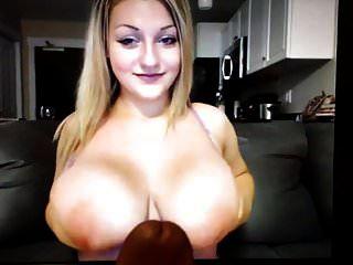भारी स्तन के साथ लड़की मुझे 1 मिनट में सह बनाता है