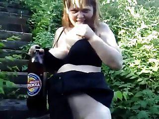 गर्भवती शौकिया आउटडोर pee.mp4
