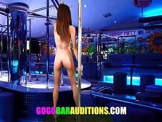 पतला थाई लड़की ऑडिशन गोगो डांसर होना