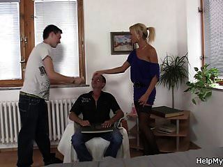 युवा चेक गोरा पुराने पति कोयल