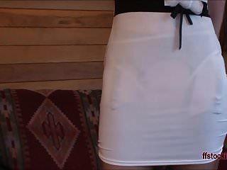 ffstockings परिपक्व महिला अपस्कर्ट सरासर पैंटी शो