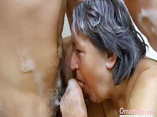 omahotel बालों वाली दादी और lusty युगल थ्रीसम