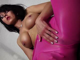 desyra noir में सेक्सी लाल बैंगनी pantyhose