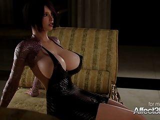 सींग का बना गोरा और उसके बड़े स्तन प्रेमिका futa सेक्स का आनंद ले रहे
