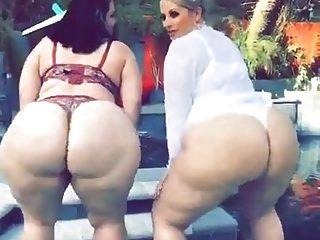 2 बड़े मोटे सफेद बीबीडब्ल्यू गोधूलि क्लिप