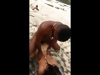 वे समुद्र तट पर डिक ले रहे हैं
