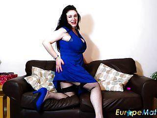 यूरोपीय परिपक्व परिपक्व महिला एकल हस्तमैथुन