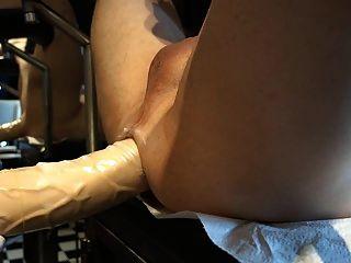 विशाल स्ट्रैपआन, चरम बहिर्गमन के साथ dildo, बड़े स्तन
