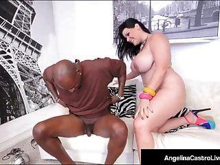 क्यूबा bbw एंजेलीना अरंडी बिक्री के लिए बड़े काले मुर्गा पर बैठता है!