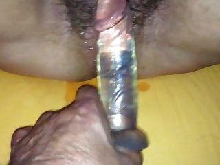 मेरे वसा फूहड़ एक dildo के साथ गड़बड़ कर दिया
