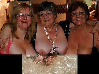 परिपक्व और नानी उस पर स्तन को देखती हैं