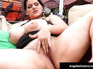 क्यूबा bbw एंजेलीना अरंडी उंगलियों बिल्ली और मुँह एक मुर्गा fucks
